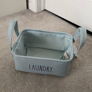 "New Rae Dunn small canvas bin ""LAUNDRY"""